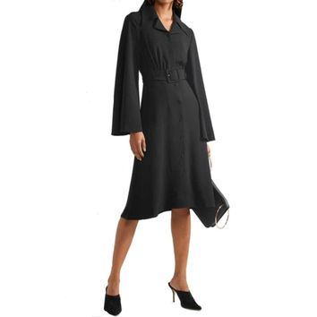 Co Collection Black Belted Shirtdress