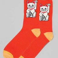 Lucky Kitty Sock- Red One