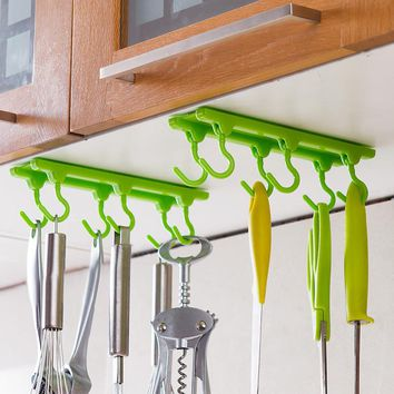 1pcs Top Quality Kitchen Rack Seasoning Rack, Kitchen Tool Kitchen Ceiling Hanging Rod Kitchen Storage Rack Hooks Free Shipping