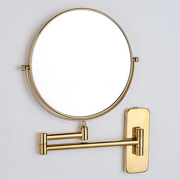 Golden Mirror Bathroom Mirror Polished Copper Sided Bath Mirror