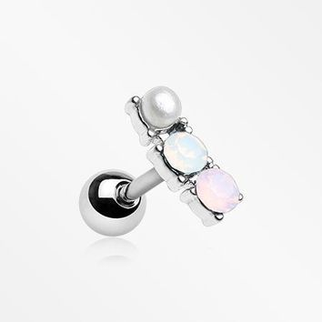 Dainty Pearlescent Opalite Sparkle Cartilage Tragus Earring