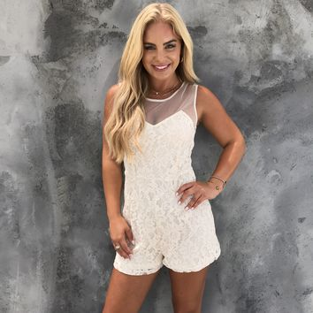 The Lace Between Us Romper