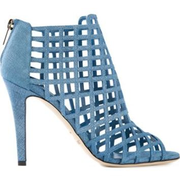 Jimmy Choo 'dassa' Booties - Pearl - Farfetch.com