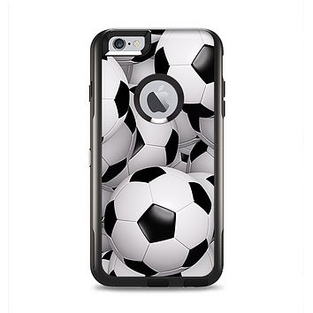 The Soccer Ball Overlay Apple iPhone 6 Plus Otterbox Commuter Case Skin Set