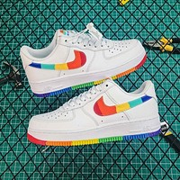 Nike Air Force 1 '07 LV8 White / Rainbow Shoes - Shoes