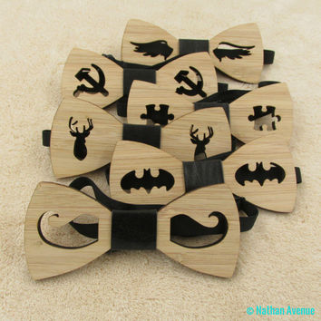 Hot Fashion Men's Wooden Bow Tie