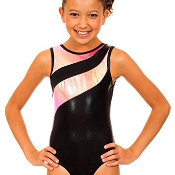 Girl's Samantha Pink/Orange Snowcone Leotard