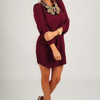 Where Have You Been All My Life Tunic: Merlot