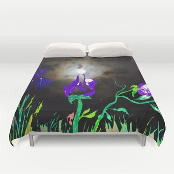 Majestic Bloom Duvet Cover by ES Creative Designs