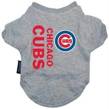 PEAPYW9 Chicago Cubs Dog Tee Shirt