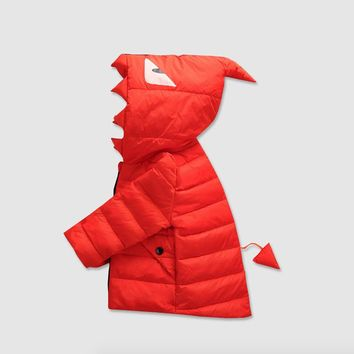 The new 2016 winter warm down jacket children boys and girls children's clothing Little monster thin hooded down jacket
