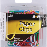 vinyl coated paper clips - 125 ct
