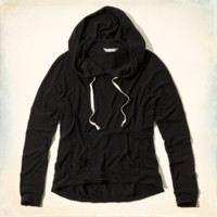 Hollister + Lucy Hale Drapey Knit Hoodie