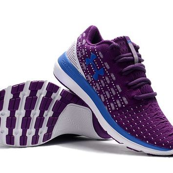 hcxx B222 Under Armour Slingflex Threadborne Flyknit Causal Breathable Running Shoes Purple Blue