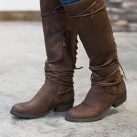 Marcelina Lace-Up Boots - Size 6