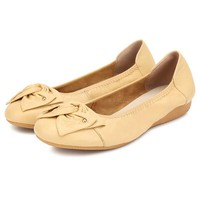 Big Size Floral Butterflyknot Slip On Soft Sole Light Flat Shoes