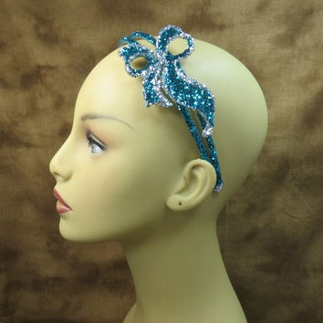 Headbands - Blue - Bow Headband - Turquoise Headband - Wedding Head Piece - Little Girls Gifts - Gifts Under 20 - Flowergirl Gifts