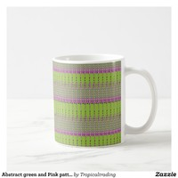 Abstract green and Pink pattern coffee mug. Coffee Mug