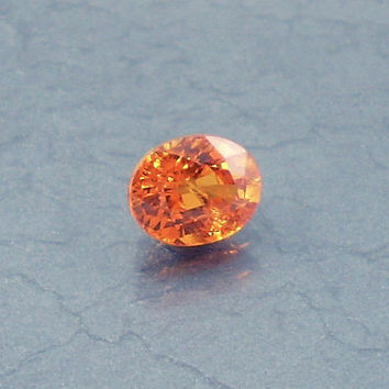 Spessartite Garnet: 1.13ct Orange Oval Shape Gemstone, Natural Hand Made Faceted Gem, Loose Precious Mineral, Crystal Jewelry Supply 20008