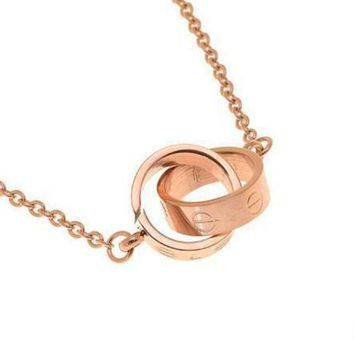 CREYUP0 Cartier Woman Fashion LOVE Plated Necklace For Best Gift-1