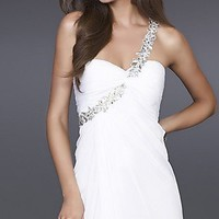 White Evening Gown by La Femme 15361