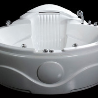 EAGO AM505HO  5' Rounded Corner Waterfall Whirlpool Bath Tub w Inline Heater and Ozone Disinfector