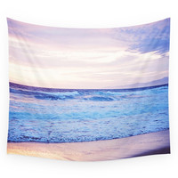 Society6 Purple Sunset Over Hermosa Beach Los Ang Wall Tapestry