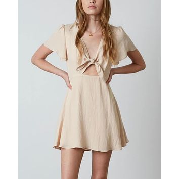 Final Sale - Cotton Candy LA - Americana Dress - Nude