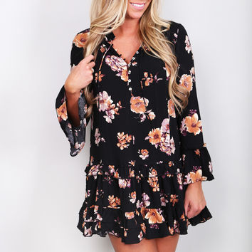 Free Falling Floral Dress