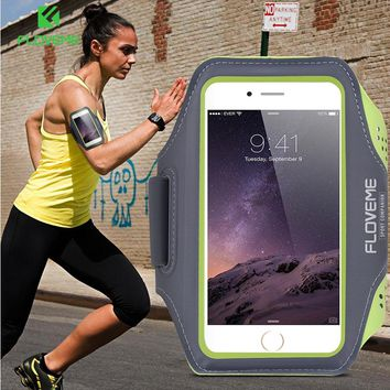 FLOVEME Sports Arm band Case For iPhone 6S For iPhone 6 Plus 6S Plus Outdoor Waterproof Running Gym Phone Cover For iPhone 7 +