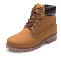 Women fashion trending boots shoes waterproof Martin boots Brown G