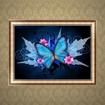 Hot Sale Butterfly Flower Resin Diamond Embroidery Painting Cross Stitch DIY Home Decor