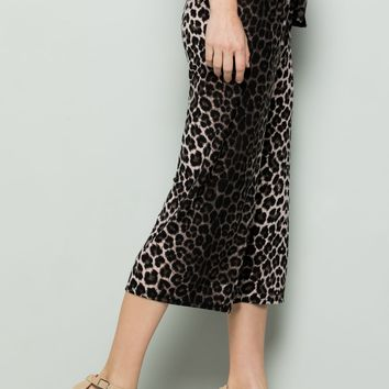 BROWN LEOPARD PRINT HIGH WAIST CULOTTES