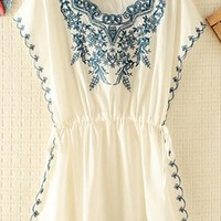 Embroidery Rim and Front Dress JBV843