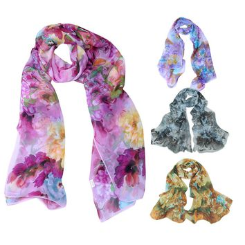160*50CM Newly Design Fashion Chinese Style Lady Long Wrap Women's Shawl Chiffon Scarf Scarves