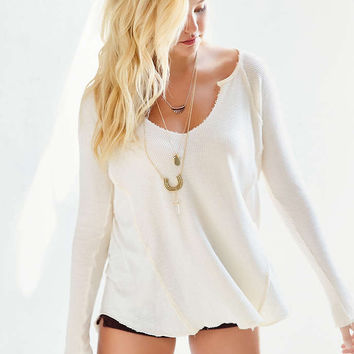 Project Social T Jessa Thermal Top - Urban Outfitters