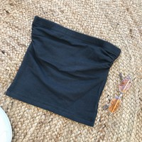 ISLA TUBE TOP- DARK GREY