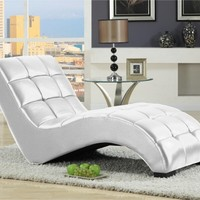 Emerald Home Lounger Chaise - White | www.hayneedle.com