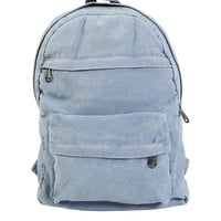 Acid Washed Denim Backpack