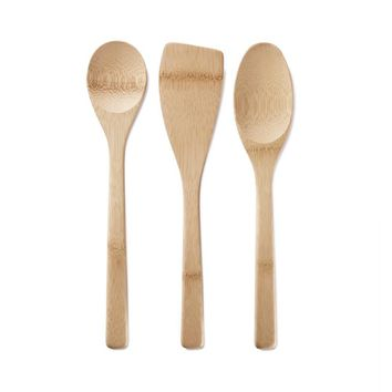 Kitchen Basics, Set of 3 Bamboo Cooking Utensils