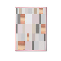 Pastel Mosaic Vertical, Pink Shapes, Geometric Poster, Real Rose Gold Foil, Home Decor, Modern Art Poster, Gold Square Print, Shapes Print,