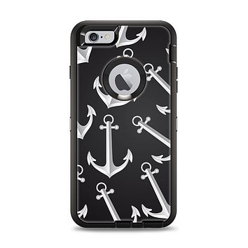 The Black Anchor Collage Apple iPhone 6 Plus Otterbox Defender Case Skin Set