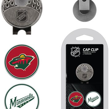NHL Minnesota Wild Hat Clip & 2 Magnetic Golf Ball Markers