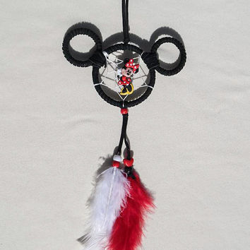 Disney Minnie Mouse dreamcatcher/ small/ black suede