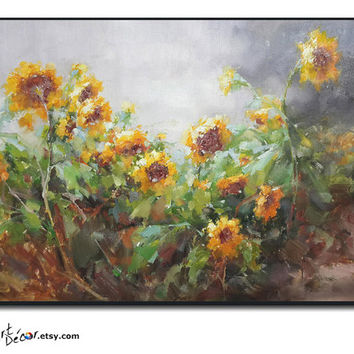 Original Painting, Oil Painting, Flower Painting, Large Wall Art, Abstract Art, Still Life Painting, Canvas Art.