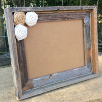Rustic Barnyard Wooden 8x10 Photo Frame - Rustic Frame - Personalized Picture Frame