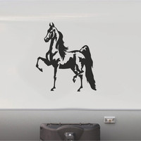 Equestrian Horseback Riding Horse Trailer Vinyl Decals Enclosed Trailer Stickers Graphics Mural 234