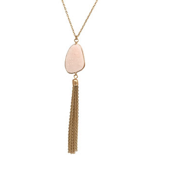 At First Sight Cluster Necklace In Pink And Gold