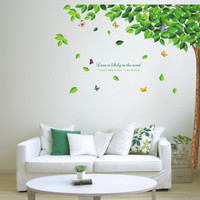 2016 Green tree Butterfly Photo Wall Sticker Wall Decal Poster Photo Picture Frame Base Art DIY Home Decor better than Wooden