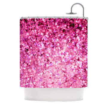 Shop Pink Glitter Curtains on Wanelo